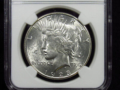 1923-S Silver Peace Dollar NGC MS62 (034)