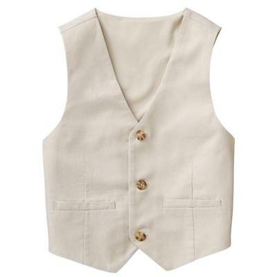 NWT Gymboree Dressed up Boys Vest Linen Khakis Easter Wedding Many Sizes