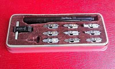 Markant 100 Technical Drawing / Calligraphy Pen with Nibs in Case - VTG Germany