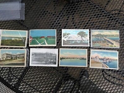 Vintage lot of 8 postcards 4 are bridges from the 30s