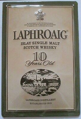 LAPHROAIG, Blechschild, ISLAY SINGLE MALT WHISKY