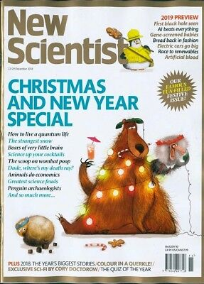 New Scientist Magazine 22 / Dec 2018 ~ Special Offer Buy Any 6 Issues For £10.00