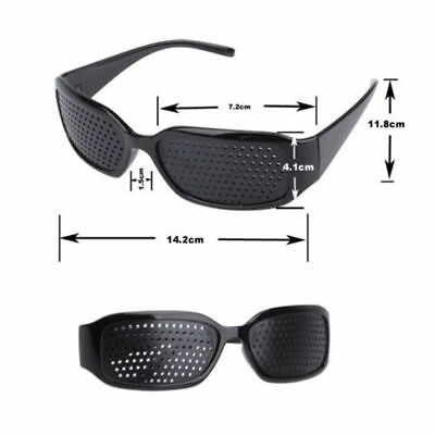 Unisex Eye Correction Exercise Eyesight Vision Care Improvement Pinhole Glasses_