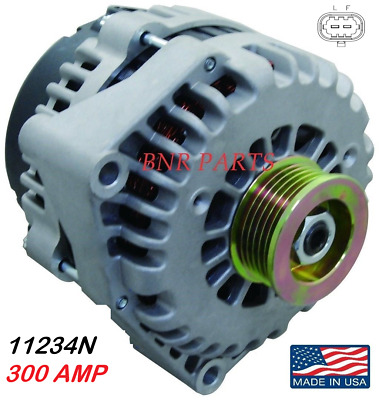 300 Amp 11234N Alternator Chevy GMC Cadillac High Output New 2 Pin