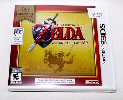 Zelda: Ocarina of Time 3D (Nintendo 3DS) Nintendo Selects French  Brand New Seal