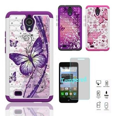 factory price 6a594 90bae PHONE CASE FOR AT&T AXIA / AT&T AXIA (Cricket Vision), Crystal Cover Case +  TG