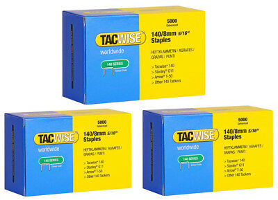 Tacwise 140 Series / 8mm Galvanised Staples 3 Boxes (5000 Staples in a box)