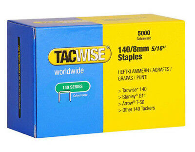 Tacwise 140 Series / 8mm Galvanised Staples 1 Box (5000 Staples in a box)
