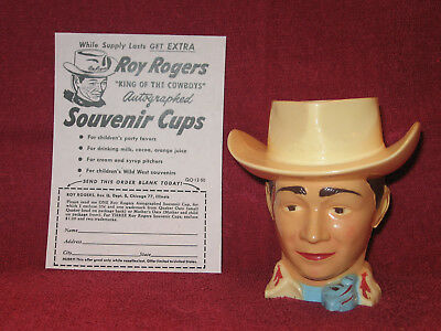 Vintage Roy Rogers Cowboy Mug Cup & Mail -In Coupon F&F Mold & Die Works   NICE!