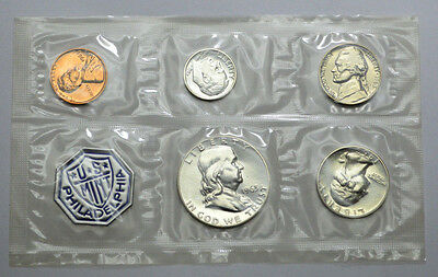 Proof 1963 Philadelphia U S Mint Set Of 5 Coins 3 Coins- 90% Silver!