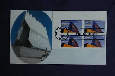 United States Air Force Academy 37c Stamp FDC William Sc#3838 Plate Block 10565