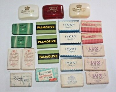 Lot of 19 Assorted Vintage Hotel Travel Size Soap Bars-Soap Holders Grand Hotel