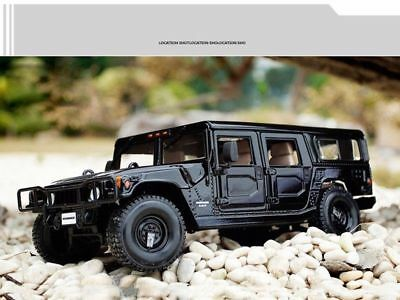 1/18 Scale Maisto Black Hummer H1 Alloy Diecast SUV Vehicle Car Toy