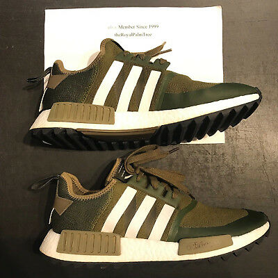 671a1f615 Adidas NMD Trail PK x White Mountaineering Olive White Size 11.5 US CG3647  USED
