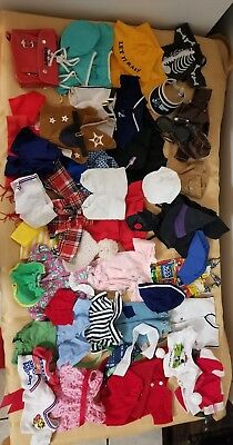 Vintage 1970's Snoopy Plush Wardrobe Clothes Lot 50 + pieces
