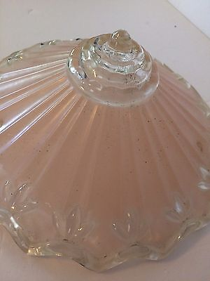 Vintage/Antique Three Hole Glass Lampshade Pink Frosted Glass