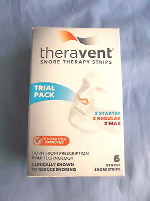 Theravent Snore Therapy Strips (Trial Pack) Exp. 05/2020- New
