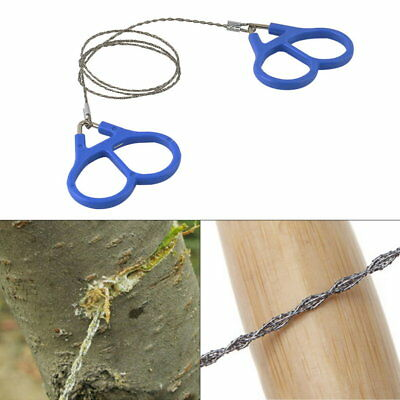 Hiking Camping Stainless Steel Wire Saw Emergency Travel Survival Gear F0