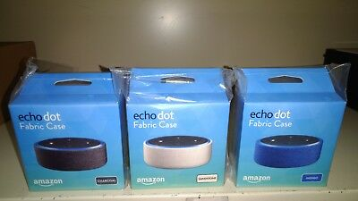 Amazon Echo Dot 2nd Gen  Cases x 3 -  Sandstone + Charcoal Black + Indigo Fabric