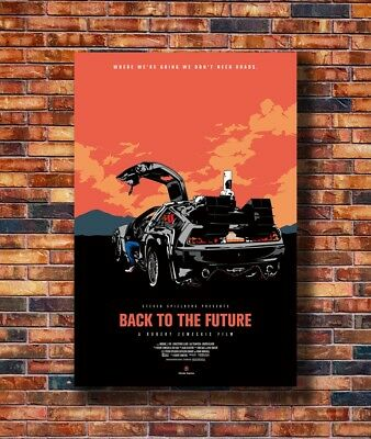 New Back To The Future De Lorean DMC Poster -14x21 24x36 Art Gift X-273