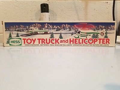 Hess Toy Truck And Helicopter 1995 New