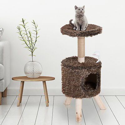 "PawHut 26"" Indoor Cat Tree Scratching Post Activity Climbing Center Condo House"
