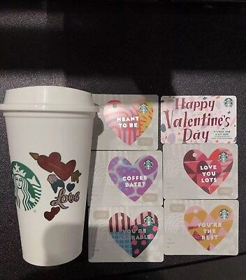 New Starbucks 2019 Valentine's Day Gift Cards And Reusable Cup
