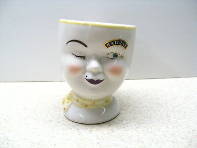 Baileys 1997 YUM Coffee Mug Girl Woman Face Head Irish Cream Cup Limited Edition