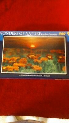 Wonders of Nature Brand New /& Sealed 500 pc Puzzle Flowers at Sunset