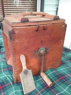 Antique Vintage butter churn cherry @ sons .Gisborne # 1 with paddle