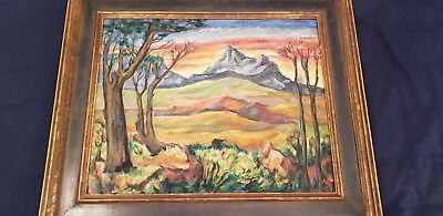 An Unusual Craftsman Original Painting Mary Ladd 1938 Vose Galleries 26 1/2 × 22