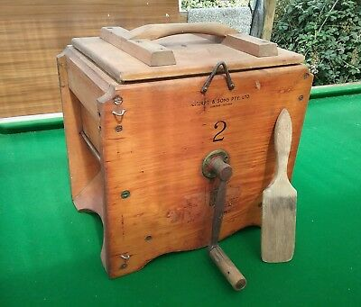 Antique Vintage, Butter Churn .#2 Cherry @ Sons Gisborne. With 1 Paddle