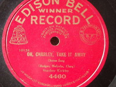 Edison Bell Winner  Record (Red)- 10158  - Unusual Label  - 78 Rpm