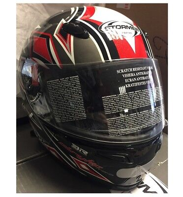 cad811b51fa797 Stormer - Casque intégrale STRYKE DIAMOND RED - taille L 60cm - gris rouge