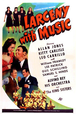 Larceny with Music (1943)  Allan Jones, Kitty Carlisle, Leo Carillo,