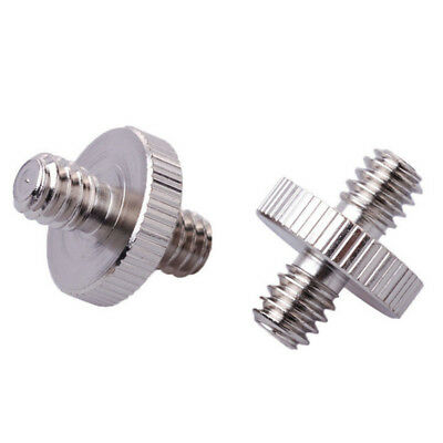 1/4'' Male to 1/4'' Male Threaded Camera Screw Adapter Tripod Mount Holder Hot