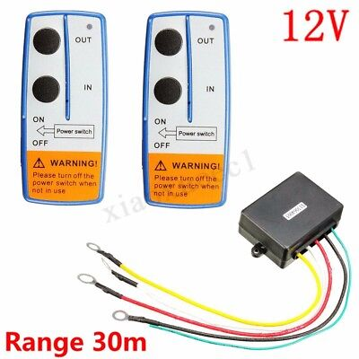 12V Recovery Wireless Winch Remote Control Twin Handset For Jeep Atv Suv  Fr