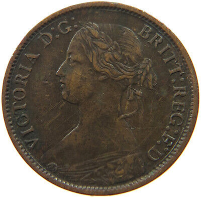 GREAT BRITAIN FARTHING 1860   #qr 491