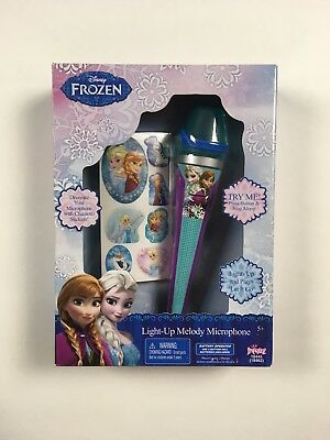Disney Frozen - Light-Up Music Melody Microphone - Plays 'Let It Go' - New
