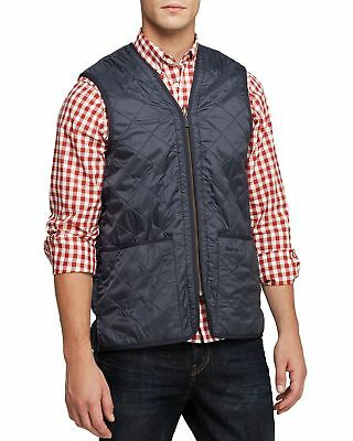 Barbour Quilted Vest In Navy Blue Size S Small
