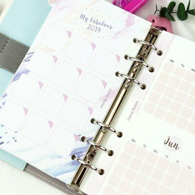 Hello 2019 Multi-color Paper Calendar Divider Notebook Index Separator Pages Hot