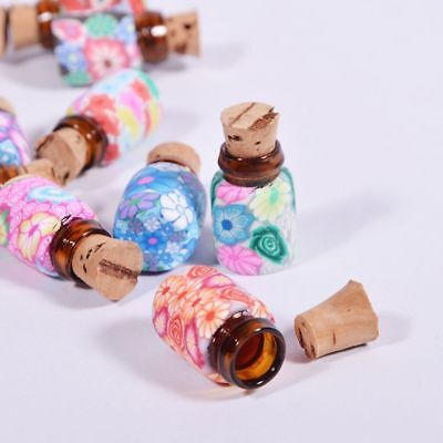10 pcs Mini Round Shaped Glass Bottles Containers Vials With Corks Hot
