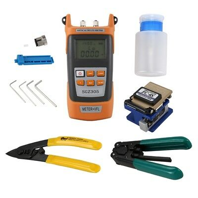 Fiber Optic FTTH Tool Kit With FC-6S Fiber Cleaver And Optical Power Meter N7W7