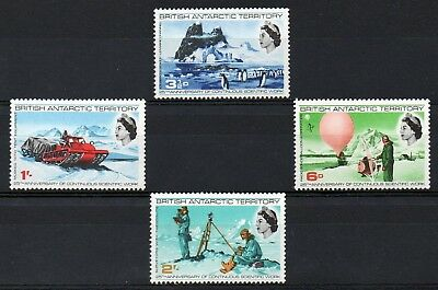 British Antarctic Territory 1969 Science Anniversary  MNH set S.G. 20-23