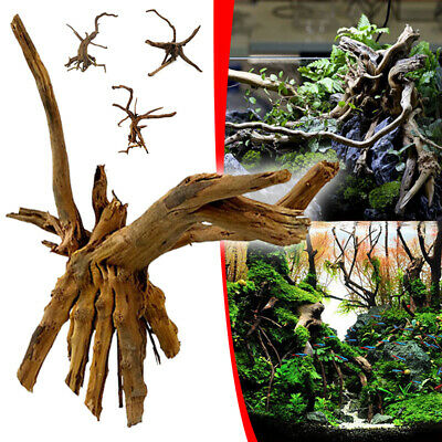 Trunk Fish Tank Driftwood Natural Wood Tree Aquarium Plants Reptile Decoration