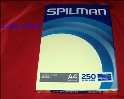 Spilman tinted Color Copy Paper A4 80gsm 250 sheets, made in France