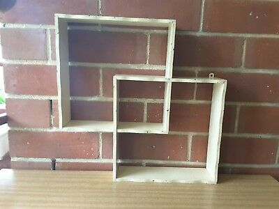 MID-CENTURY 50's VINTAGE Wooden SHADOW BOX DISPLAY UNIT Wall Hanging SHELVES