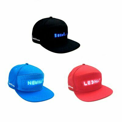 LED Screen Light Cool Hat Smartphone Controlled Waterproof Baseball Cap CE