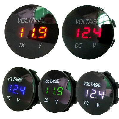 Socket Panel LED Display Battery Gauge Car Voltmeter Voltage Meter Motorcycle