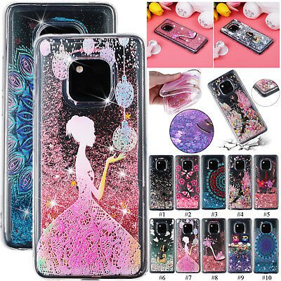 Sparkle Dynamic Quicksand Cover TPU Case for Huawei Mate 20 Lite P20 Pro Xiaomi